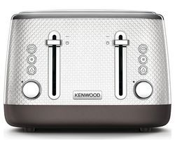 KENWOOD Mesmerine TFM810WH 4-Slice Toaster - White Best Price, Cheapest Prices