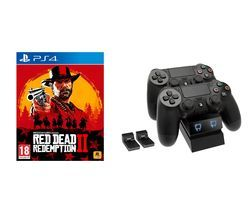 PS4 Red Dead Redemption 2 & Twin Docking Station Bundle Best Price, Cheapest Prices
