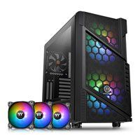 Thermaltake Commander C31 ARGB Tempered Glass Mid Tower Chassis & 3x 120mm Pure 12 ARGB Fans Bundle Best Price, Cheapest Prices