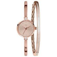 Spirit Ladies' Rose Colour Stone Set Watch and Bracelet Set Best Price, Cheapest Prices
