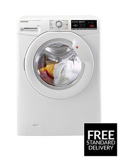 Hoover Dynamic Next DXOA69LW3 9kg Load, 1600 Spin Washing Machine with One Touch - White Best Price, Cheapest Prices