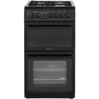Hotpoint HAG51K Gas Cooker with Variable Gas Grill - Black Best Price, Cheapest Prices