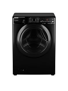 Hoover DWOAD69AHF7B-80 9kg Load, 1600 Spin Washing Machine - Black/Tinted Door Best Price, Cheapest Prices