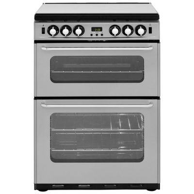 Newworld Newhome 600TSIDOM 60cm Gas Cooker with Electric Grill - Silver - A/A Rated Best Price, Cheapest Prices