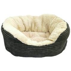 Rosewood Grey Jumbo Cord Plush Bed - Large Best Price, Cheapest Prices