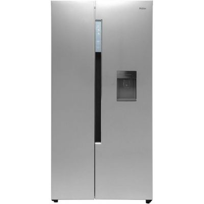 Haier HRF-522WS6 American Fridge Freezer - Silver - A+ Rated Best Price, Cheapest Prices