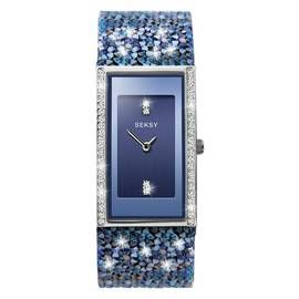 Seksy Rocks Ladies Blue Swarovski Crystal Set Strap Watch Best Price, Cheapest Prices