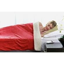 Relaxwell by Dreamland Intelliheat Sherpa Wine Heated Throw Best Price, Cheapest Prices