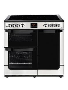 New World NW VISION 90E Electric 90cmRange Cooker - Stainless Steel Best Price, Cheapest Prices