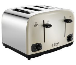 RUSSELL HOBBS Cavendish 24091 4-Slice Toaster - Cream Best Price, Cheapest Prices