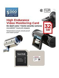 SanDisk High Endurance MicroSD for Security/Dash Cam - 32GB Best Price, Cheapest Prices