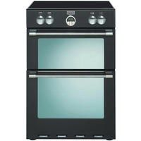 Stoves Sterling 600MFTi 60cm Double Oven Electric Cooker With Induction Hob - Black Best Price, Cheapest Prices