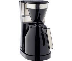 MELLITA Easy Top Therm II Filter Coffee Machine - Black & Stainless Steel Best Price, Cheapest Prices