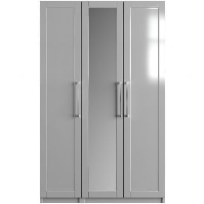 One-Call Colby Gloss 3 Door Mirrored Wardrobe Best Price, Cheapest Prices