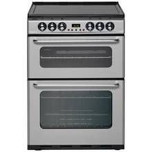 New World EC600DOm 60cm Double Oven Electric Cooker - Silver