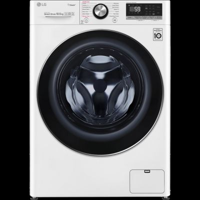 LG V7 F4V710WTS Wifi Connected 10.5Kg Washing Machine with 1400 rpm - White - A+++ Rated Best Price, Cheapest Prices