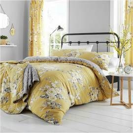 Catherine Lansfield Canterbury Ochre Bedding Set - Superking Best Price, Cheapest Prices