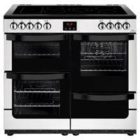 New World Vision 100E 100cm Electric Range Cooker in Stainless Steel 444444213 Best Price, Cheapest Prices