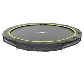 EXIT 8ft Black Edition Ground Trampoline Best Price, Cheapest Prices