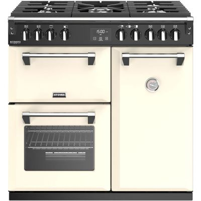 Stoves Richmond Deluxe S900G 90cm Gas Range Cooker - Cream - A/A Rated Best Price, Cheapest Prices