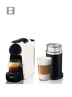 Nespresso Essenza Mini Coffee Machine With Aeroccino By Magimix - Pure White Best Price, Cheapest Prices