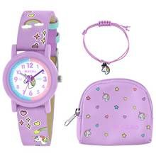 Tikkers Lilac Unicorn Watch, Necklace and Purse Set Best Price, Cheapest Prices