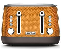 KENWOOD Mesmerine TFM810OR 4-Slice Toaster - Orange Best Price, Cheapest Prices