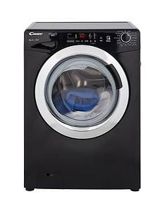 Candy Grand'O VitaGVS148DC3B8kgLoad, 1400 Spin Washing Machine with Smart Touch - Black/Chrome Best Price, Cheapest Prices