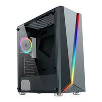 CiT C1007 Mid Tower Chassis, Tempered Glass, 120mm RGB Fan, Radiator Support, ATX/MicroATX/Mini-ITX Best Price, Cheapest Prices