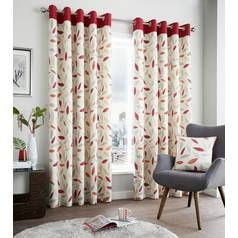 Fusion Beechwood Lined Curtains