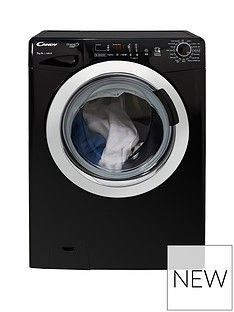 Candy Grand'O Vita Gvs169Dc3B 9Kg Load, 1600 Spin Washing Machine With Smart Touch - Black/Chrome Best Price, Cheapest Prices