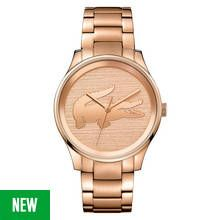 Lacoste Ladies' Victoria Rose Gold Plated Bracelet Watch Best Price, Cheapest Prices