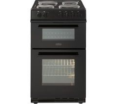 BELLING FS50EFDO Electric Solid Plate Cooker - Black Best Price, Cheapest Prices