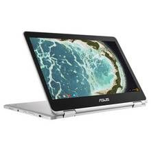 Asus C302 12.5 Inch 4GB 64GB M3 Chromebook - Silver Best Price, Cheapest Prices