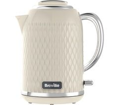 BREVILLE Curve VKT019 Jug Kettle - Cream Best Price, Cheapest Prices