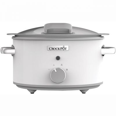 Crockpot CSC038 4.5 Litre Slow Cooker - White Best Price, Cheapest Prices