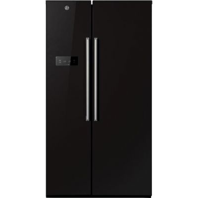 Hoover HSBSF178BK American Fridge Freezer - Black - A+ Rated Best Price, Cheapest Prices