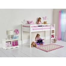 Argos Home Kaycie White Mid Sleeper Shorty Bed Frame Best Price, Cheapest Prices