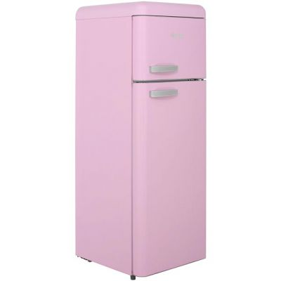 Swan Retro SR11010PN 80/20 Fridge Freezer - Pink - A+ Rated Best Price, Cheapest Prices