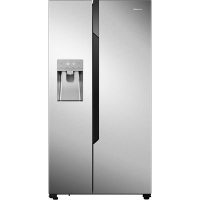 Hisense RS694N4TC1 American Fridge Freezer - Stainless Steel Effect - A+ Rated Best Price, Cheapest Prices
