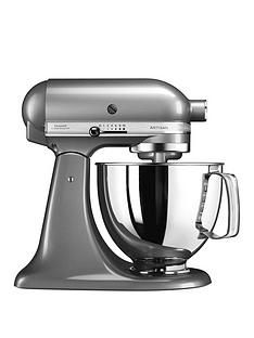 KitchenAid Artisan 4.8-Litre Tilt Head Stand Mixer - Silver Best Price, Cheapest Prices