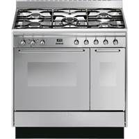 Smeg CC92MX9 90cm Dual Fuel Range Cooker in Stainless Steel Best Price, Cheapest Prices