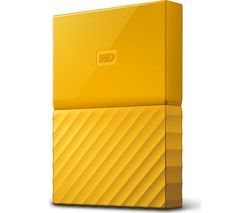 WD My Passport Portable Hard Drive - 2 TB, Yellow Best Price, Cheapest Prices