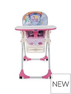Chicco Polly Easy Highchair- Unicorn Best Price, Cheapest Prices