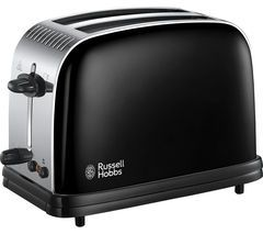 RUSSELL HOBBS Colours Plus 23331 2-Slice Toaster - Black Best Price, Cheapest Prices