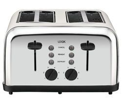 LOGIK L04TC14 4-Slice Toaster - Silver & Cream Best Price, Cheapest Prices