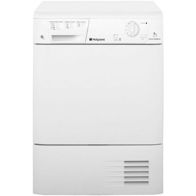 Hotpoint First Edition FETC70BP 7Kg Condenser Tumble Dryer - White - B Rated Best Price, Cheapest Prices