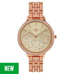 Spirit Stone Set Dial Ladies Rose Gold Coloured Strap Watch Best Price, Cheapest Prices