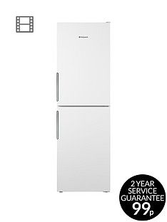 Hotpoint Day 1 LEX85N1W 60cm Wide, Frost-Free Fridge Freezer, A+ Energy Rating - White Best Price, Cheapest Prices