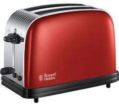 RUSSELL HOBBS Colours Plus 23330 2-Slice Toaster - Red Best Price, Cheapest Prices